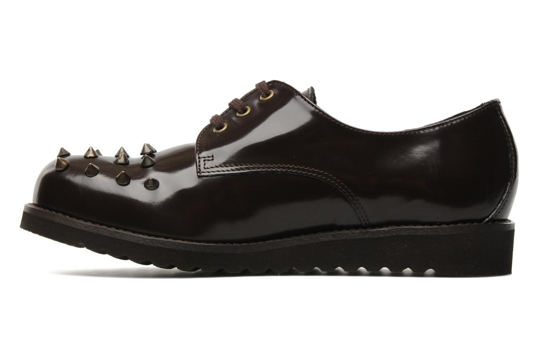 Snörade skor Jonak Polido Brun bild från framsidan