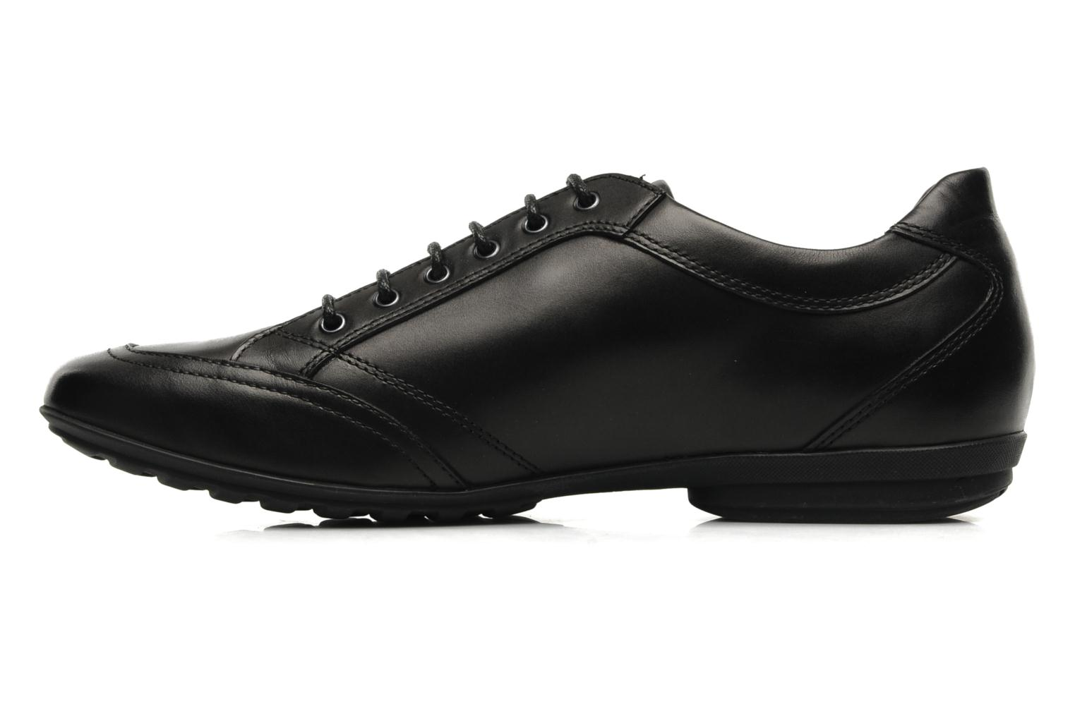 Lace-up shoes Geox U James B Black front view