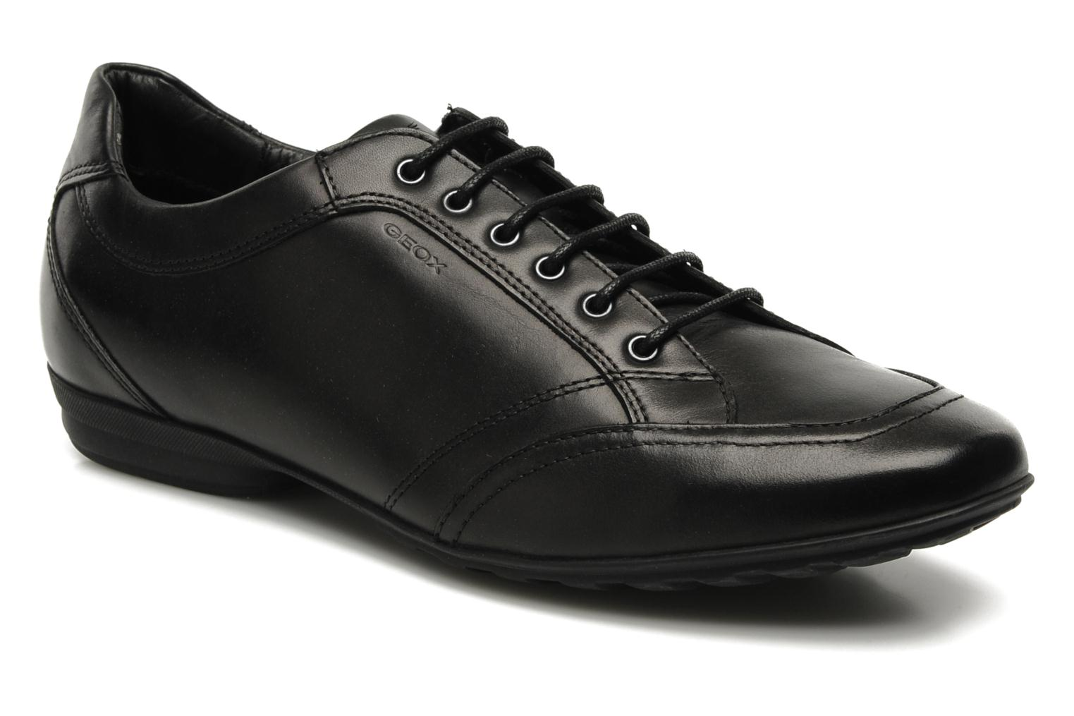 Lace-up shoes Geox U James B Black detailed view/ Pair view