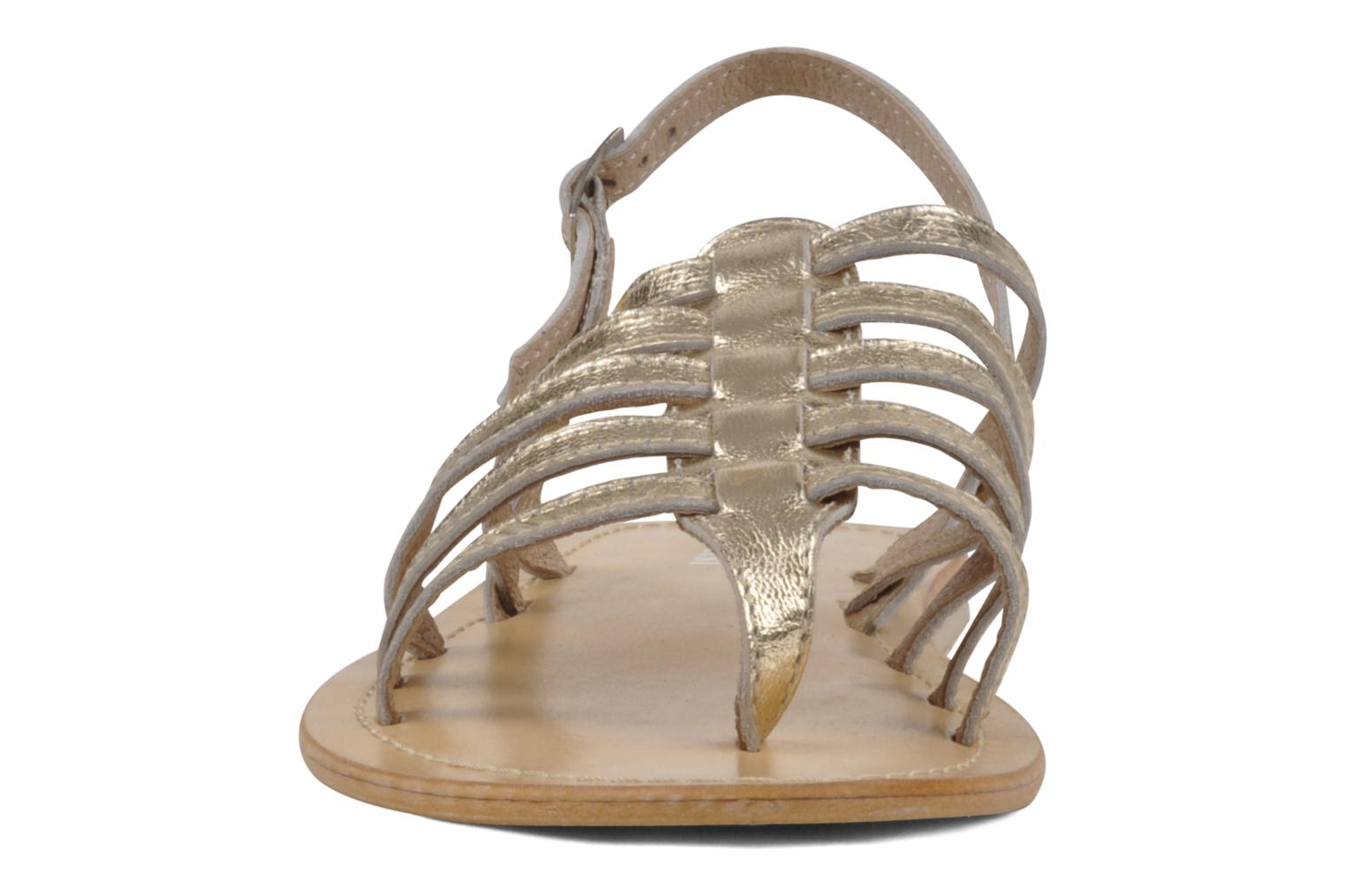 Sandals Valensi Spinata Bronze and Gold model view