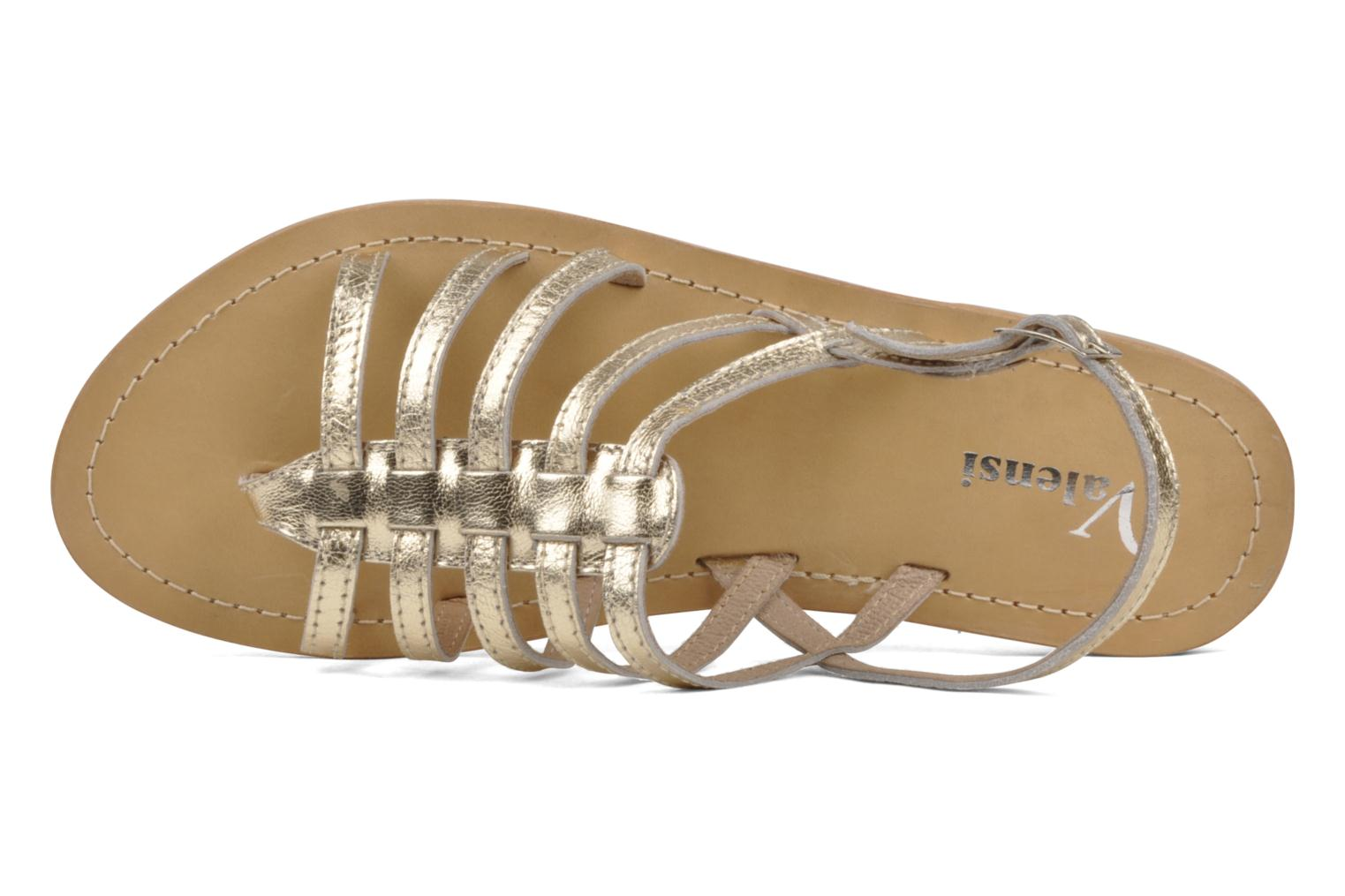 Sandals Valensi Spinata Bronze and Gold view from the left