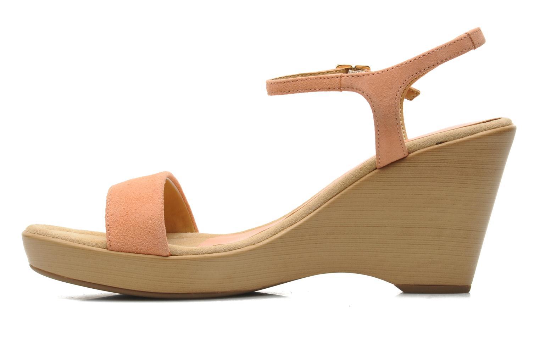 Sandales et nu-pieds Unisa Rita Orange vue face