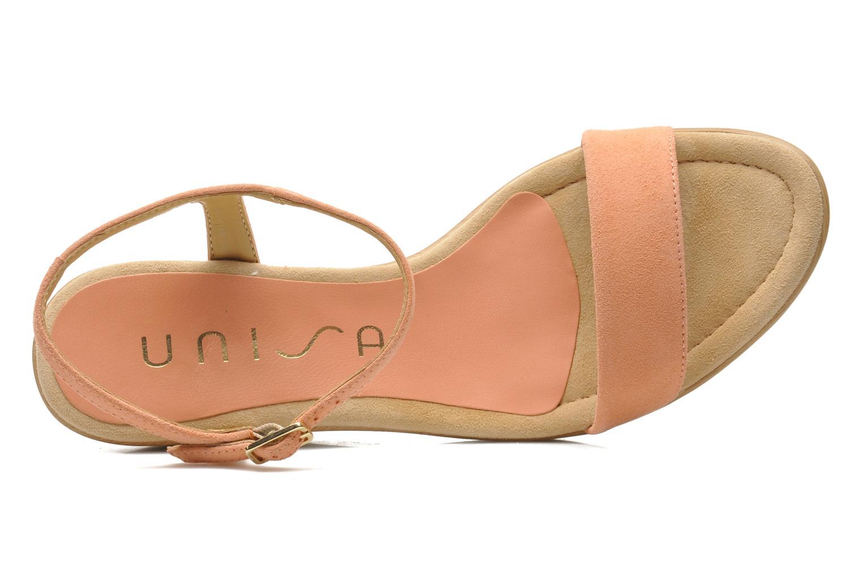 Sandales et nu-pieds Unisa Rita Orange vue gauche