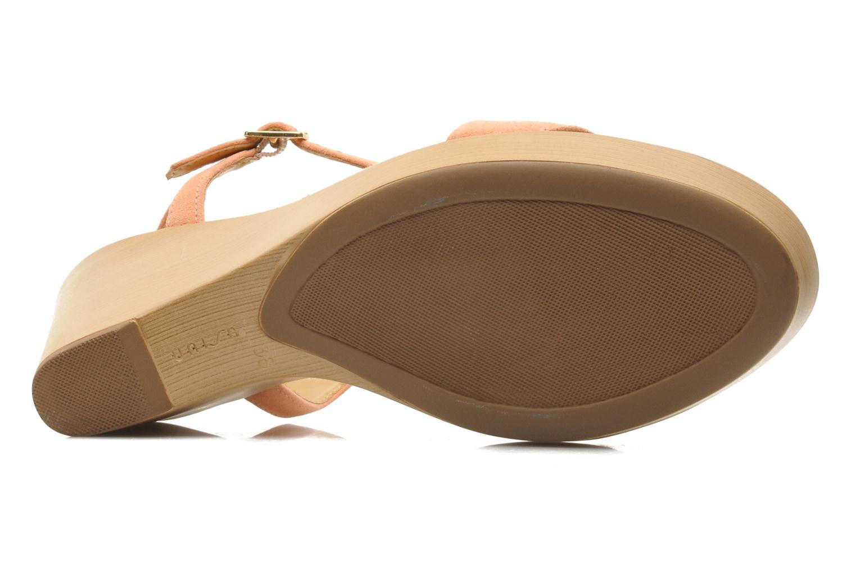Sandales et nu-pieds Unisa Rita Orange vue haut