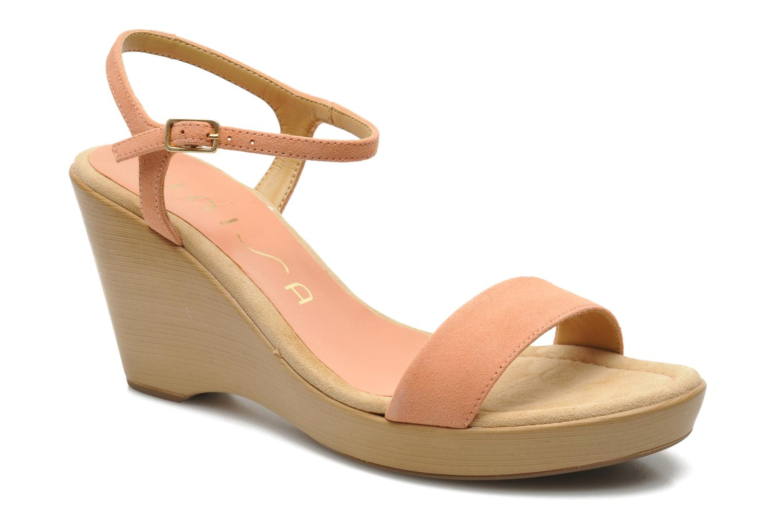Sandales et nu-pieds Unisa Rita Orange vue détail/paire