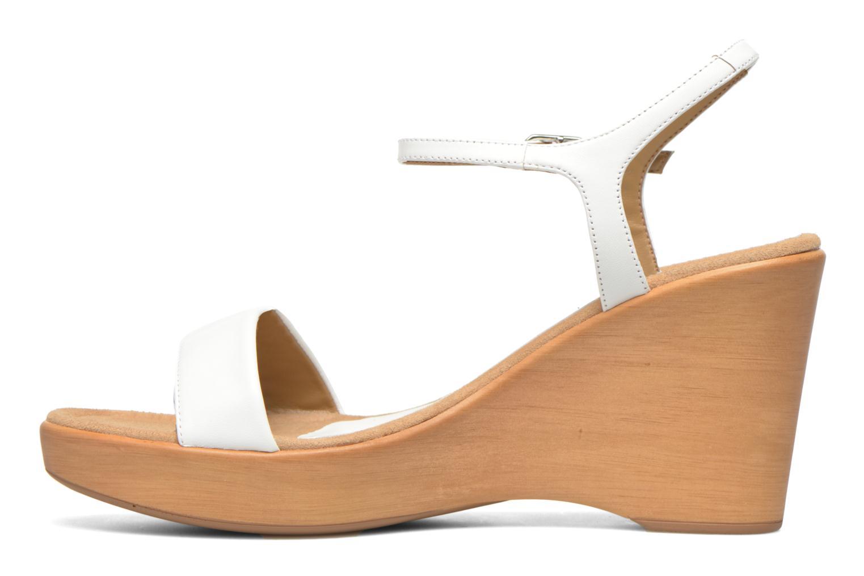 Sandales et nu-pieds Unisa Rita Blanc vue face