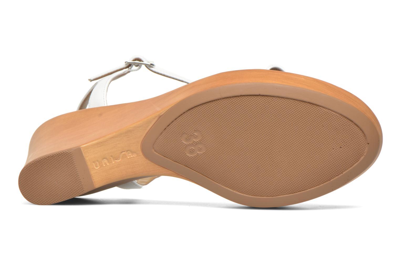 Sandales et nu-pieds Unisa Rita Blanc vue haut
