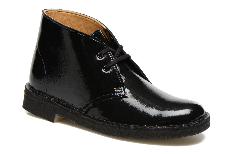 Chaussures à lacets Clarks Desert Boot W Noir vue détail/paire