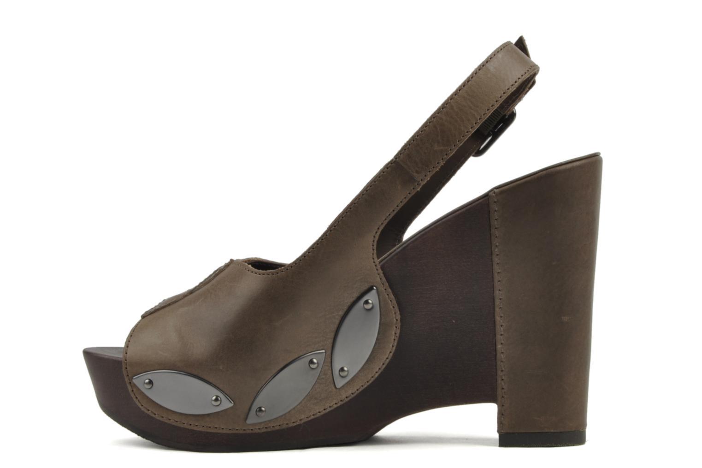 Sandales et nu-pieds Belle Melania Marron vue face
