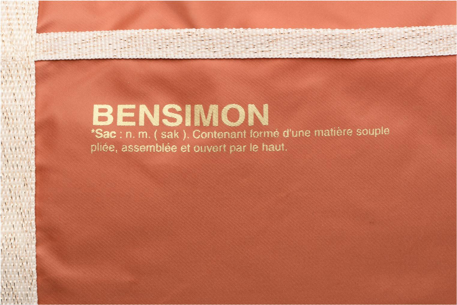 Sacs de sport Bensimon Color Bag Marron vue gauche