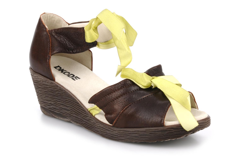 Sandales et nu-pieds Dkode Jeospi Marron vue détail/paire