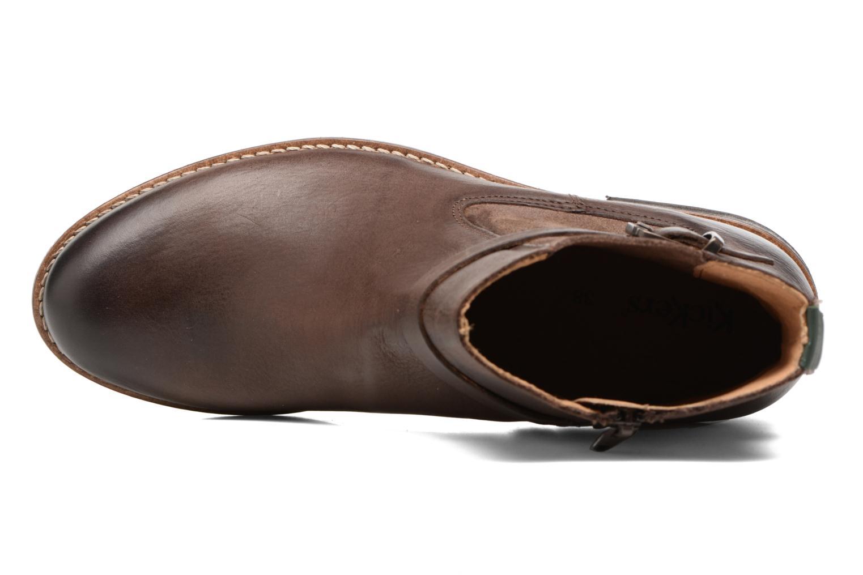 Boots en enkellaarsjes Kickers Smack Bruin links