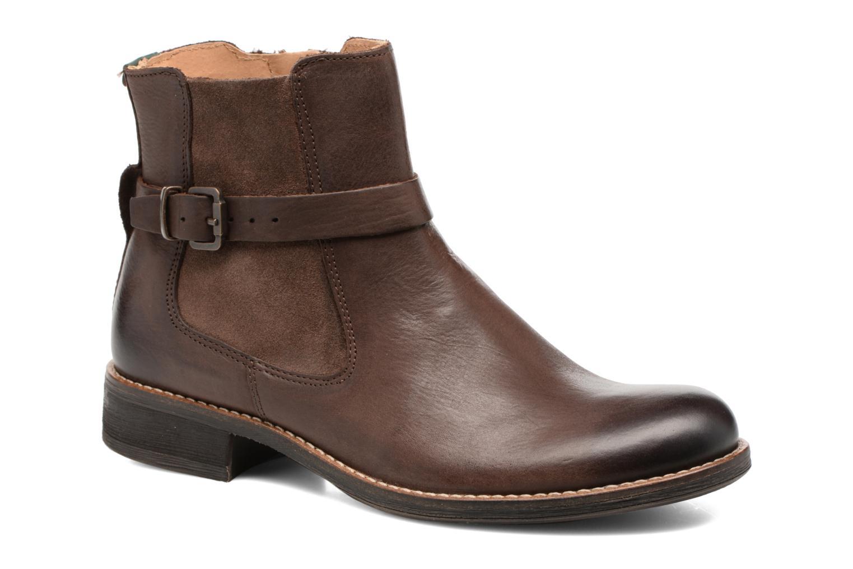Boots en enkellaarsjes Kickers Smack Bruin detail