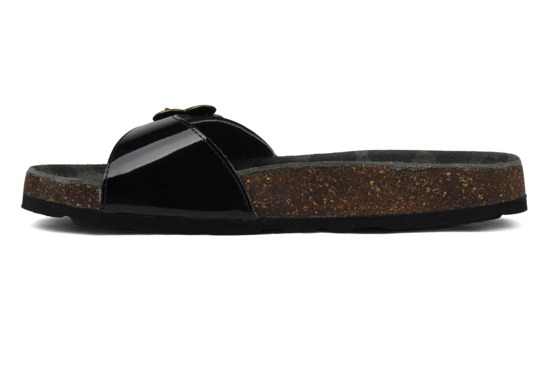 Sandales et nu-pieds Kickers Magma Noir vue face