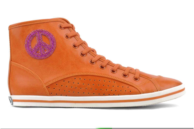 Baskets Buffalo Peace Orange vue derrière