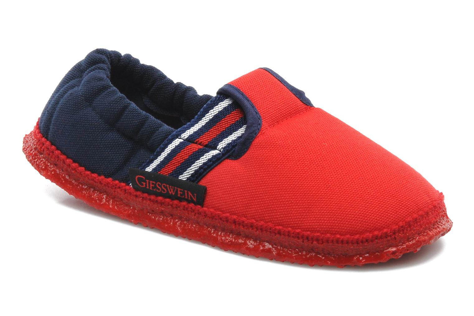 Slippers Giesswein Aichach Red detailed view/ Pair view