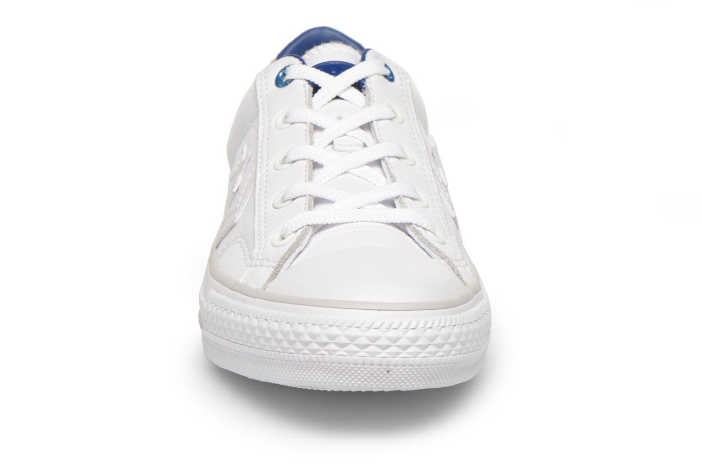 Baskets Converse Star Player Cuir Ev W Blanc vue portées chaussures
