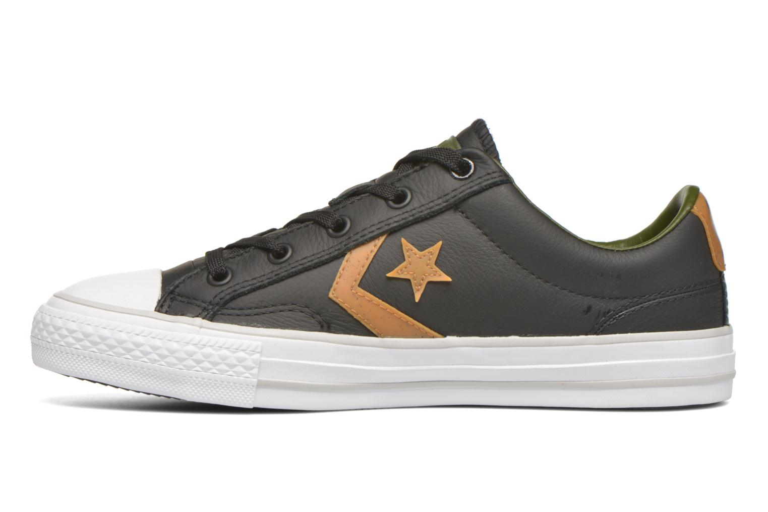 Baskets Converse Star Player Cuir Ev W Noir vue face
