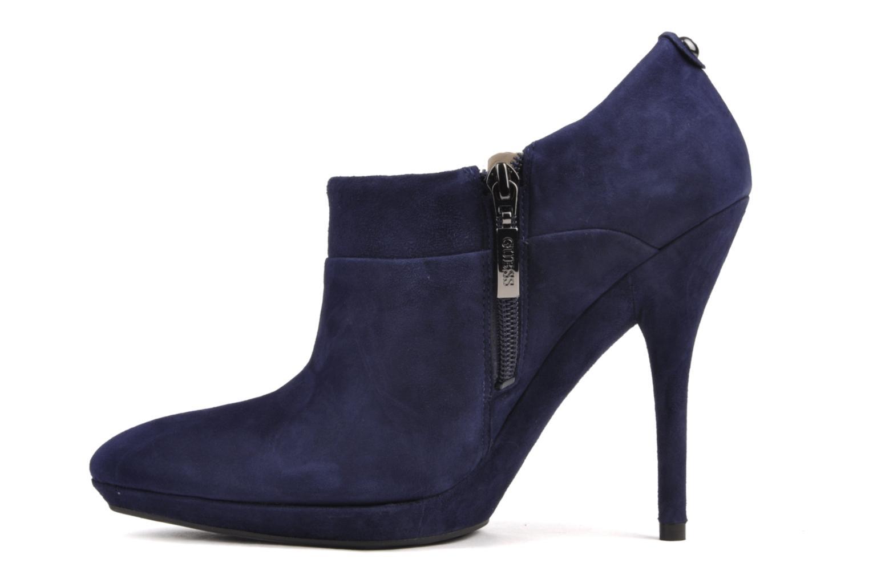 Bottines et boots Guess Petie Suede Bleu vue face