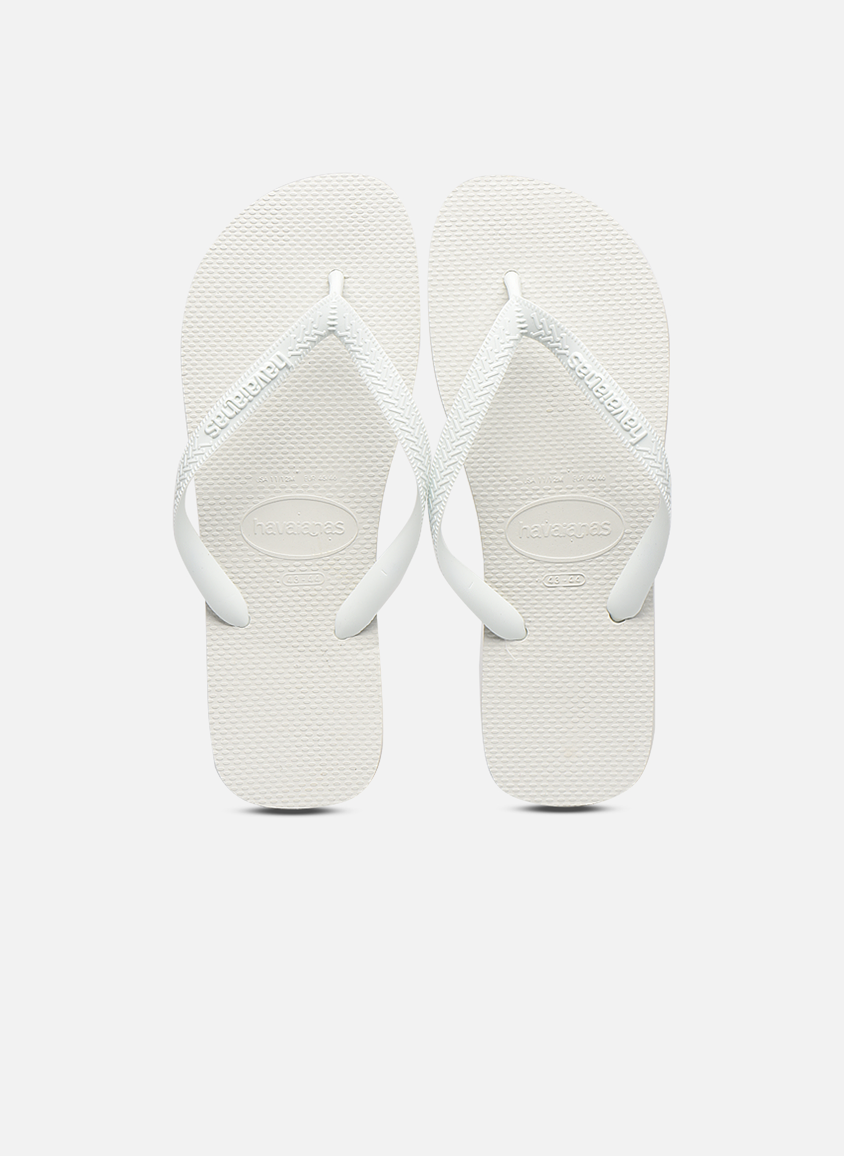 Tongs Havaianas Top H Blanc vue portées chaussures