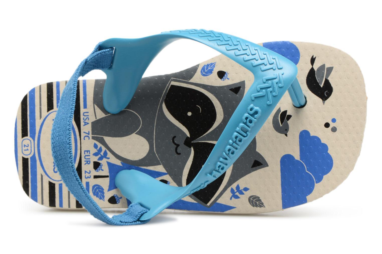 Tongs Havaianas Baby Pets Bleu vue gauche