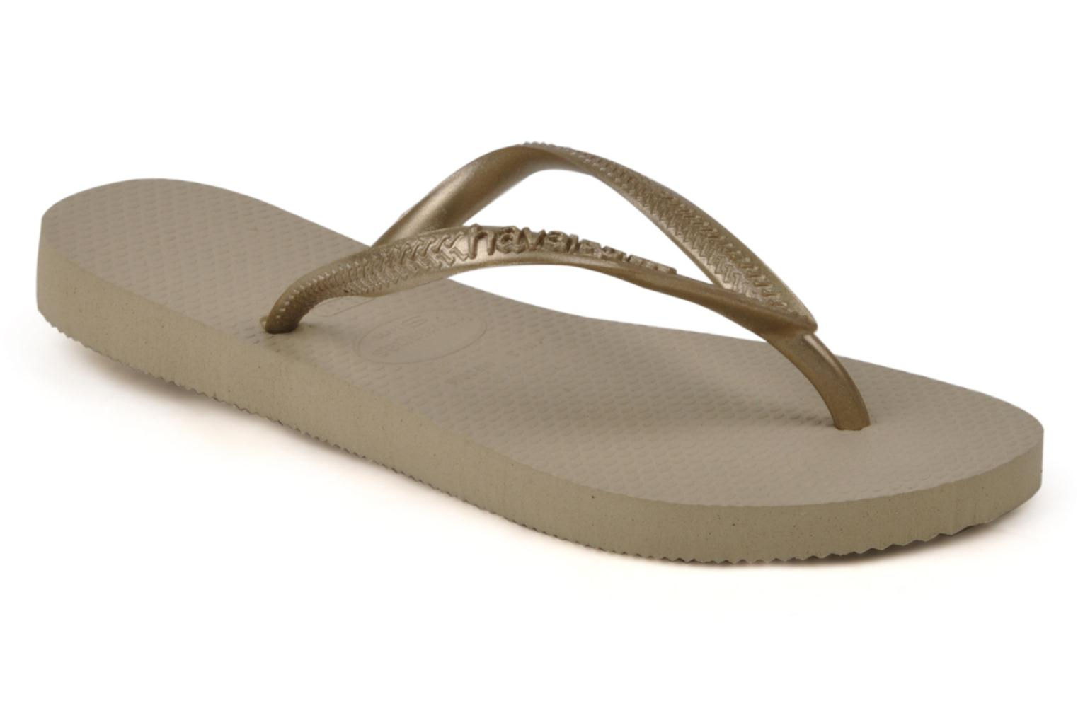 Tongs Havaianas Kids Slim Or et bronze vue détail/paire