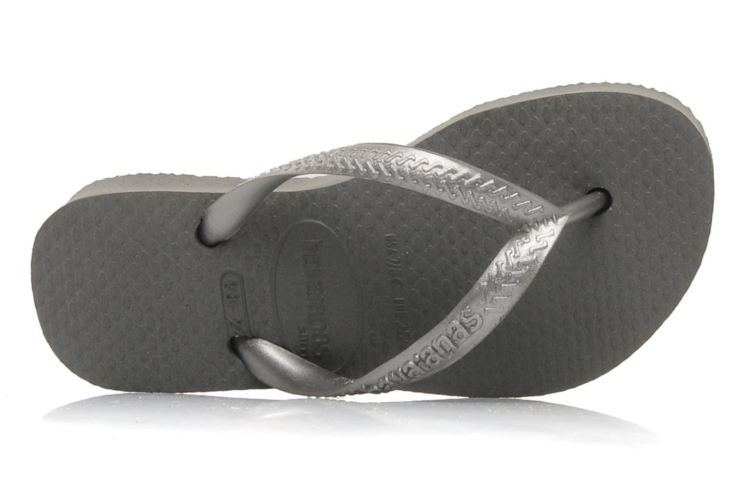 Flip flops Havaianas Kids Slim Grey view from the left