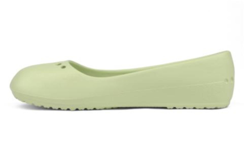Ballerinas Crocs Prima grün ansicht von vorne