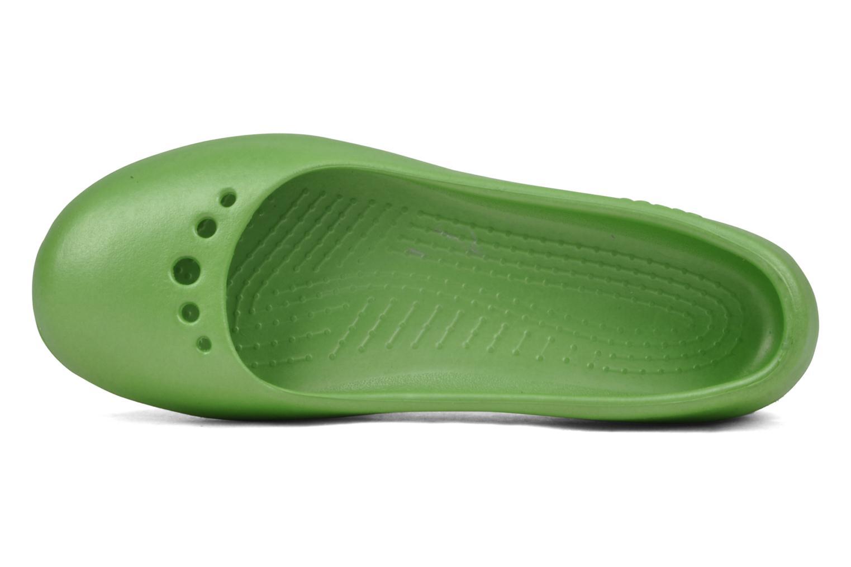 Bailarinas Crocs Prima Verde vista lateral izquierda