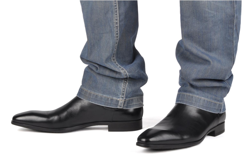 Stiefeletten & Boots Santoni Marlone 9291 schwarz ansicht von unten / tasche getragen