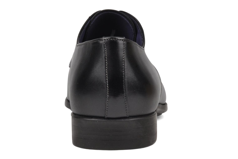 Zapatos con cordones Santoni Marlone 9290 Negro vista lateral derecha