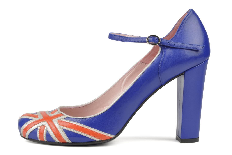 High heels Annabel Winship Expistol Blue front view