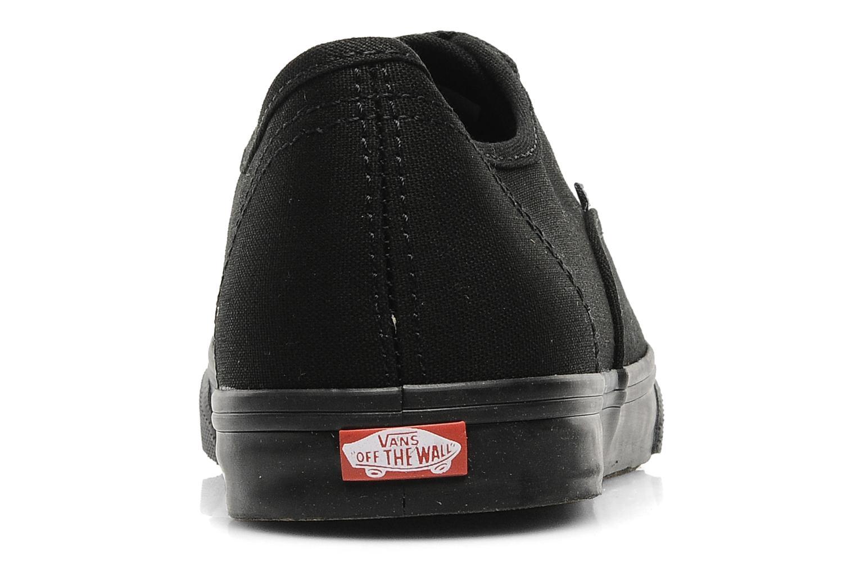 Baskets Vans Authentic Lo Pro W Noir vue droite