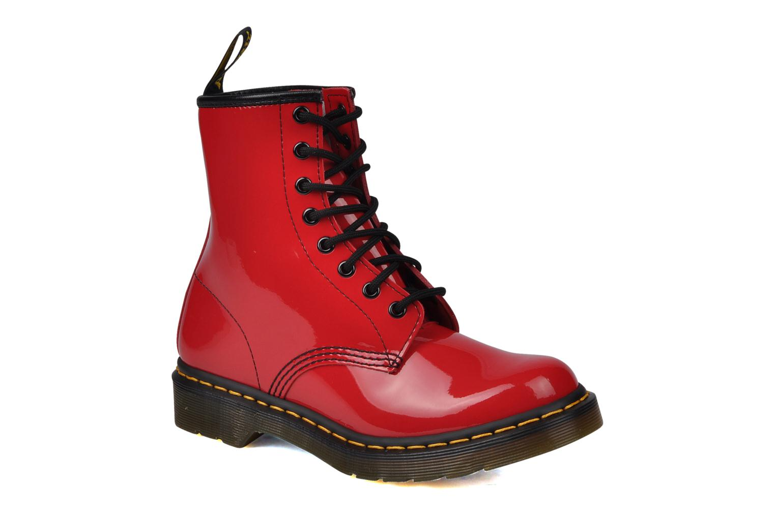 Marques Chaussure femme Dr. Martens femme 1460 W Red Patent Lamper