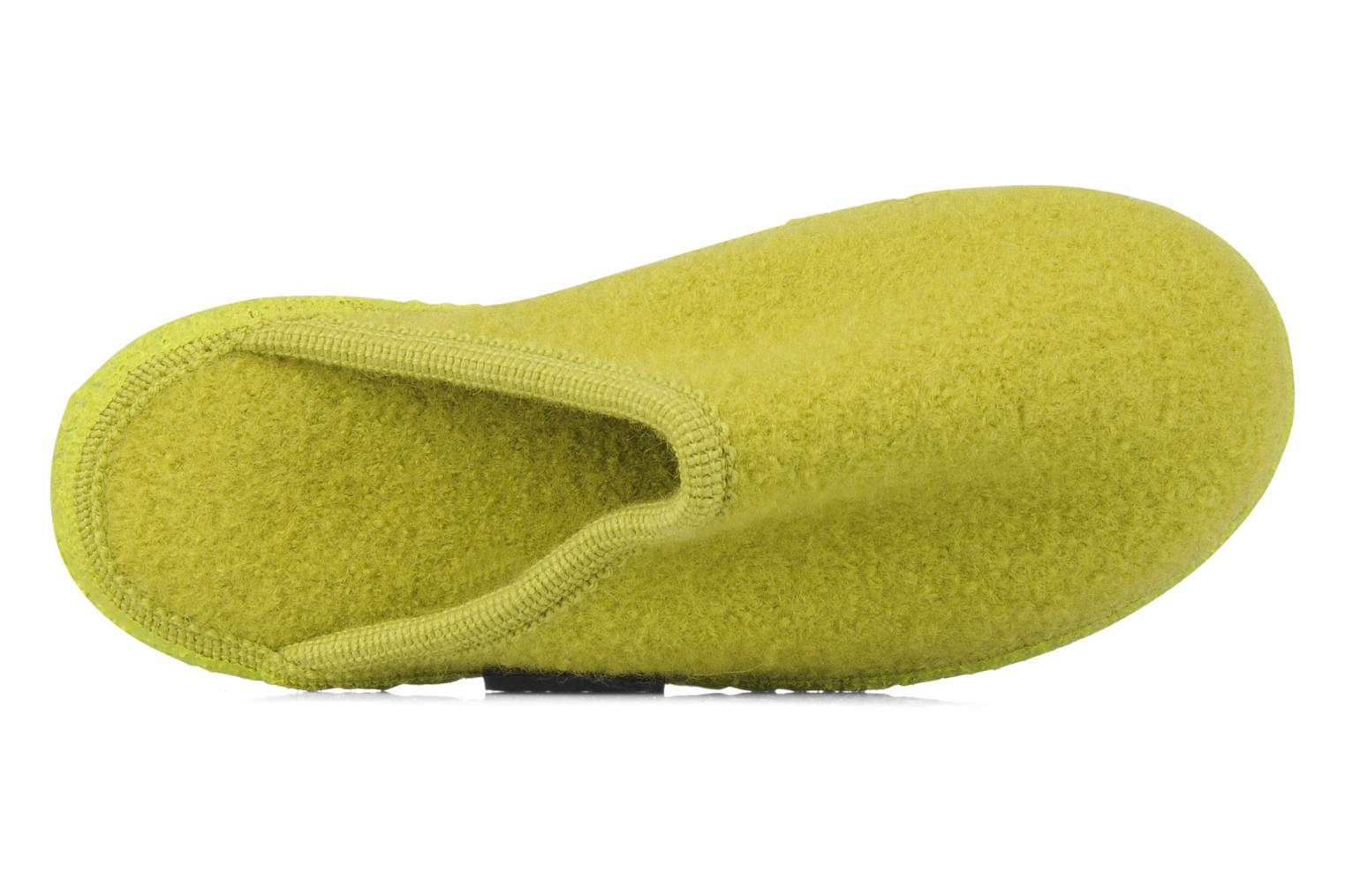Slippers Giesswein Tino W Green view from the left