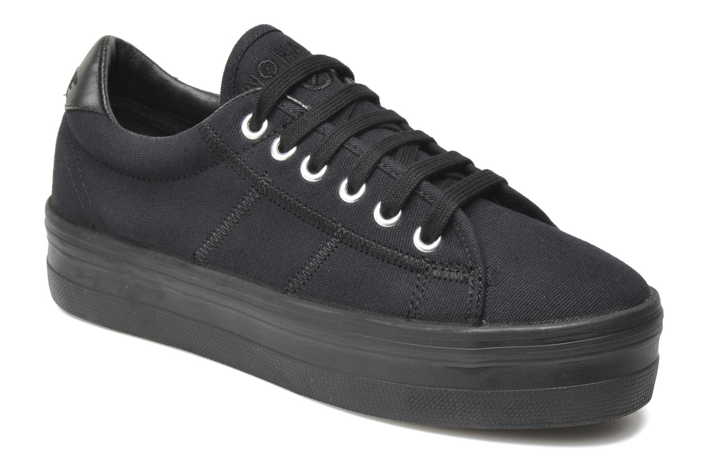 Sneakers No Name Plato Sneaker Zwart detail