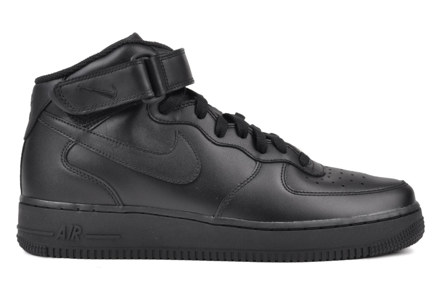 Trainers Nike Air Force 1 Mid Black back view