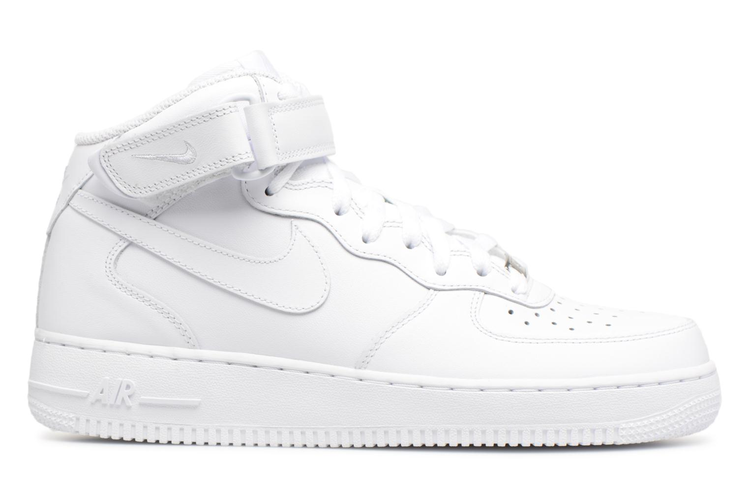 Trainers Nike Air Force 1 Mid White back view