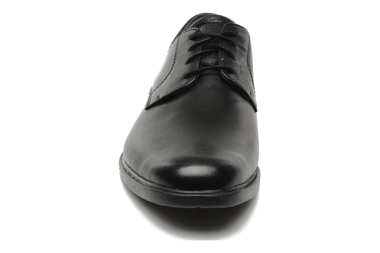 Schnürschuhe Rockport Allander schwarz schuhe getragen