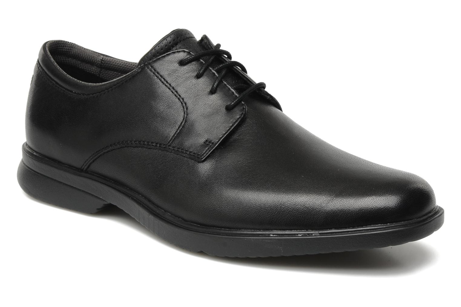 Lace-up shoes Rockport Allander Black detailed view/ Pair view