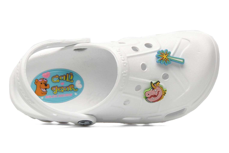 Sandales et nu-pieds Skechers Cali Gear Whirlies E Blanc vue gauche