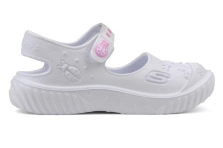 Sandalen Skechers Cali Gear Babybugs weiß ansicht von hinten