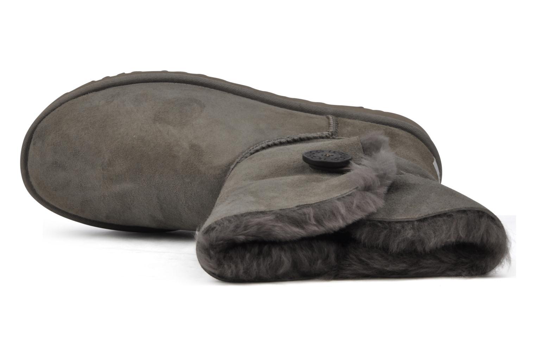 Bottines et boots UGG Bailey Button Gris vue gauche