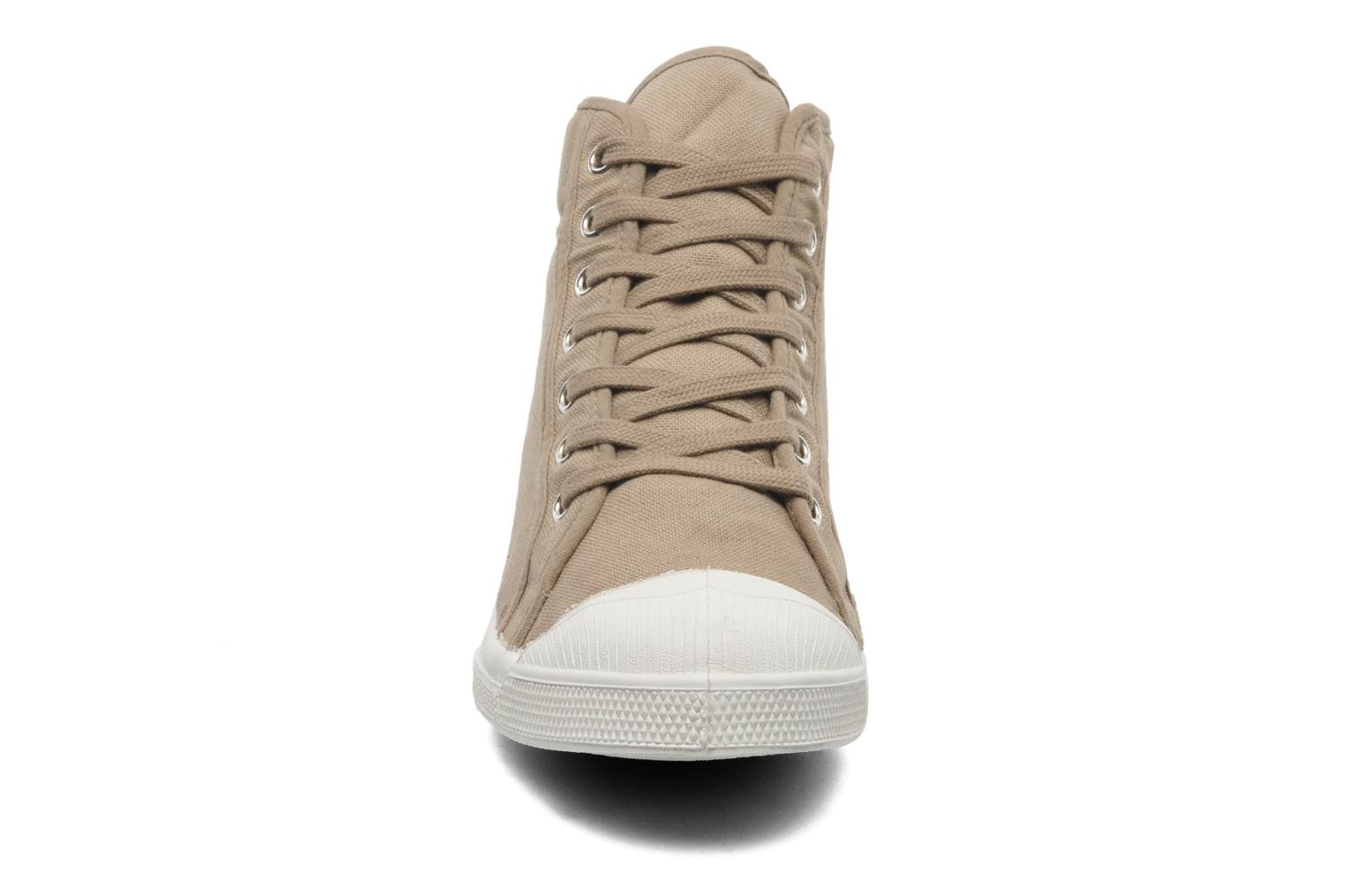 Trainers Bensimon Tennis Mid H Beige model view