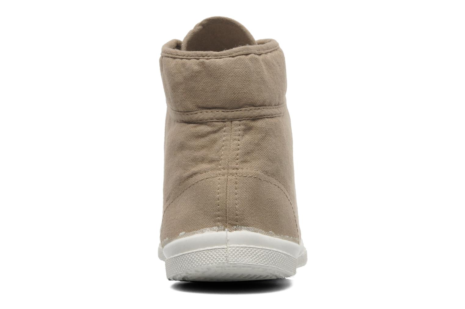 Trainers Bensimon Tennis Mid H Beige view from the right