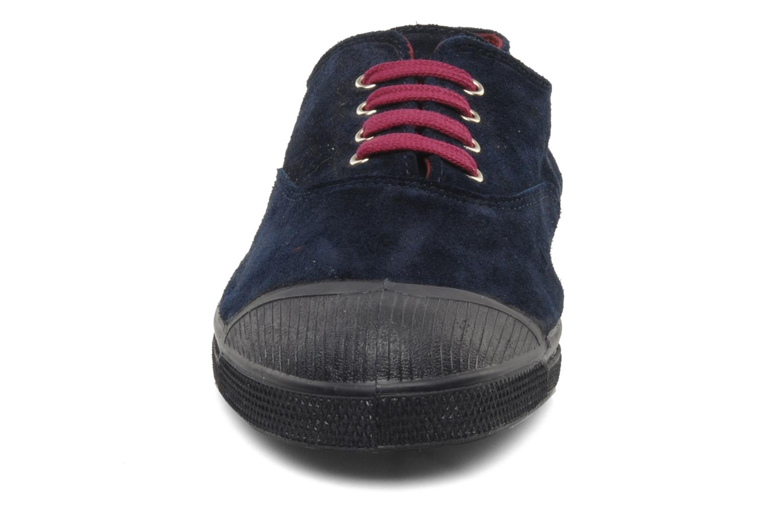 Trainers Bensimon Tennis Suede H Blue model view