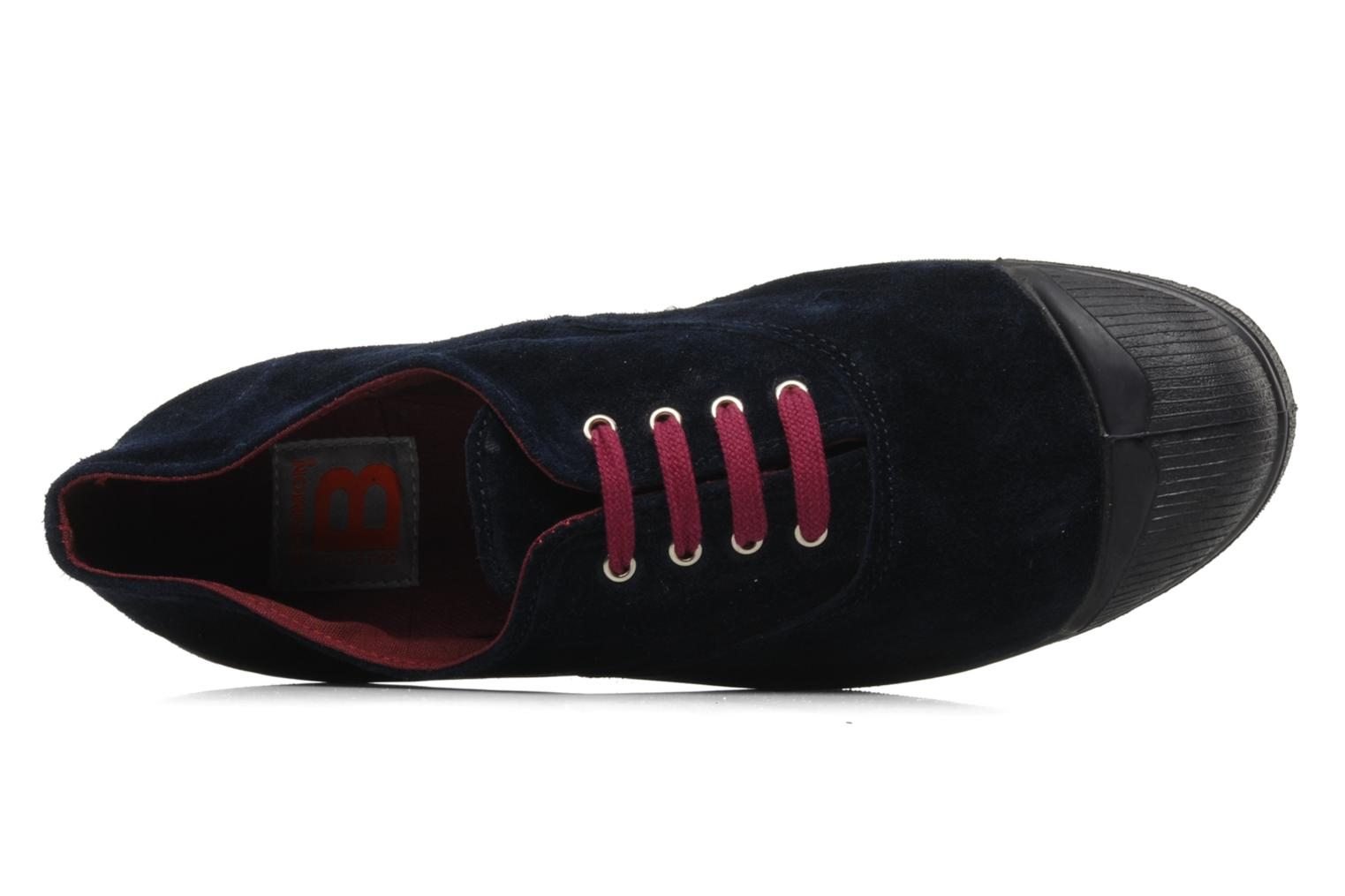 Trainers Bensimon Tennis Suede H Blue view from the left
