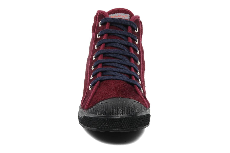 Baskets Bensimon Tennis Mid Suede F Bordeaux vue portées chaussures