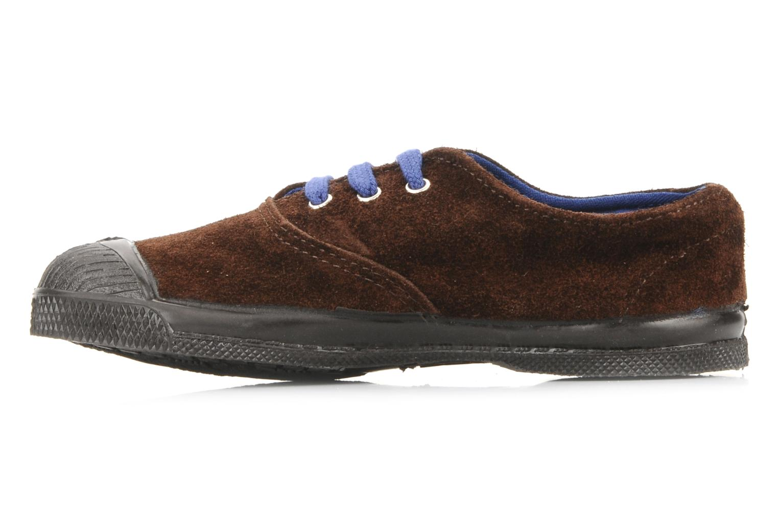 Baskets Bensimon Tennis Suede E Marron vue face