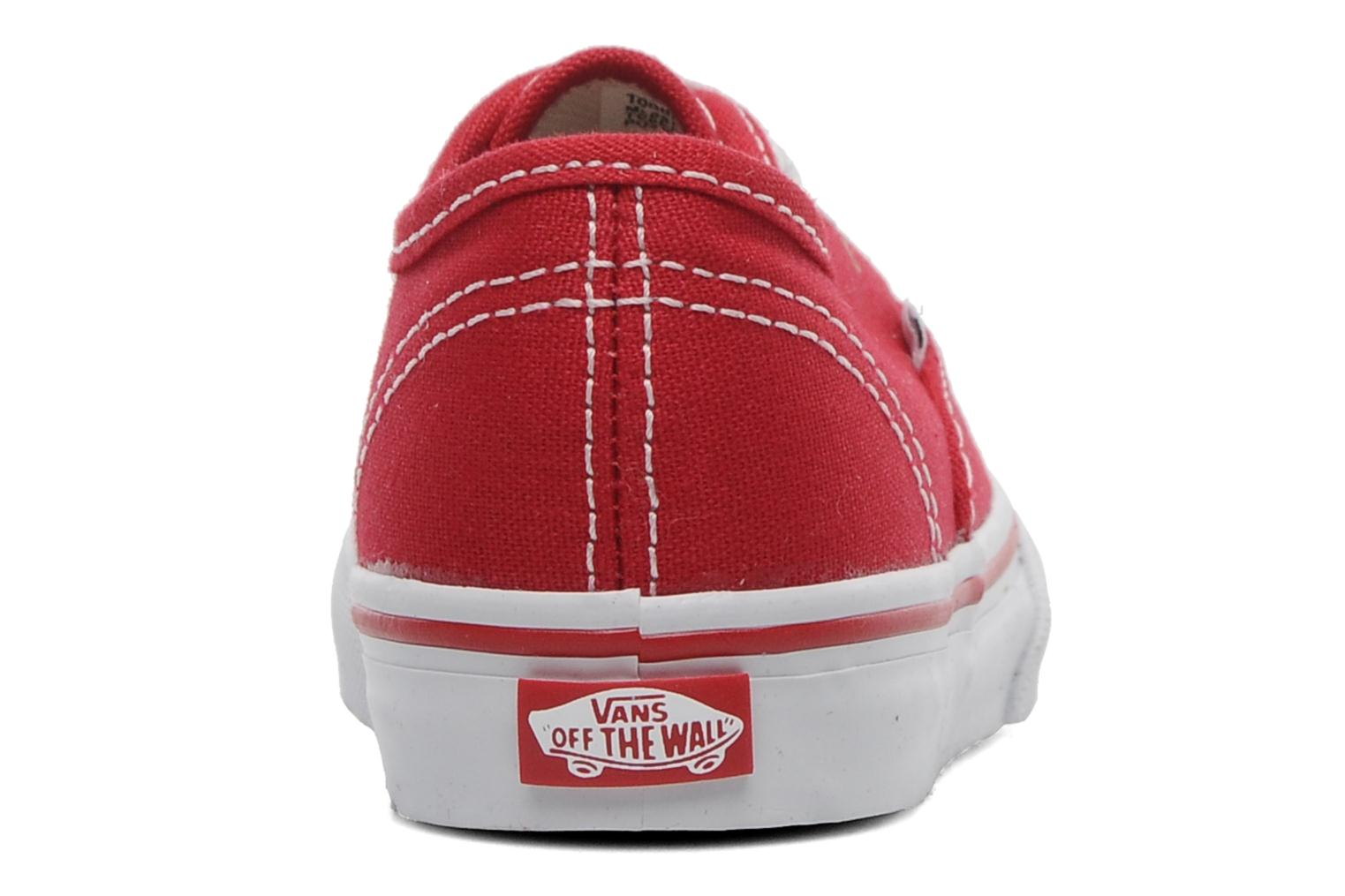 Baskets Vans Authentic BB Rouge vue droite